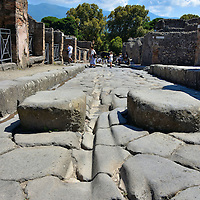 Street Construction of Via Stabiana in Pompeii, Italy <br />