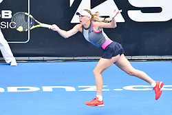 January 6, 2018 - Auckland, Auckland, New Zealand - Caroline Wozniacki of Denmark plays a forehand in her Quarter-final match against Sofia Kenin of USA during the WTA Women's Tournament at ASB Centre Count in Auckland, New Zealand on Jan 6, 2018.She defeats Sofia Kenin in three set clash to advance to the Semi-final. (Credit Image: © Shirley Kwok/Pacific Press via ZUMA Wire)