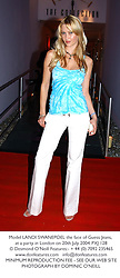 Model LANDI SWANEPOEL the face of Guess Jeans, at a party in London on 20th July 2004.PXJ 128
