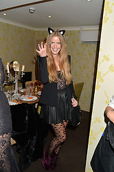 KATIE READMAN at the Bumpkin Halloween Dinner hosted by Marissa Hermer held at Bumpkin, 119 Sydney Street, London on 23rd October 2014.