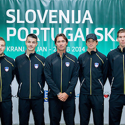 20140128: SLO, Tennis - Press conference of Davis Cup Slovenia vs Portugal tournament