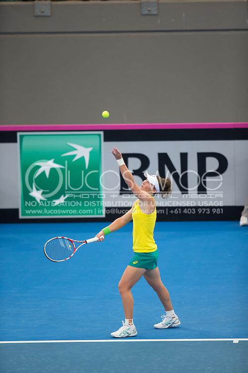 Samantha Stosur (AUS), April 19, 2014 - TENNIS : Fed Cup, Semi-Final, Australia v Germany. Pat Rafter Arena, Brisbane, Queensland, Australia. Credit: Lucas Wroe