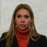 """Toluca, México.- Natalia Perez Hernandez, Consejera del IEEM, durante la inauguracion del ciclo de conferencias """"Mujeres Jóvenes en Movimiento, Exito y Abundancia. Agencia MVT / Arturo Hernández."""