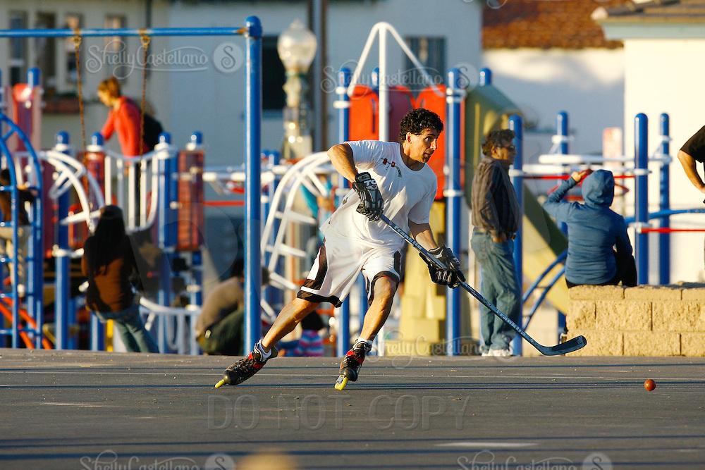 22 January 2011:  PBHA outdoor roller hockey on the blacktop at the beach.