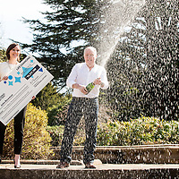 Picture by Christian Cooksey/CookseyPix.com on behalf of the National Lottery and 3x1 PR.<br /> <br /> Forfar man John Bowman aged 59 from Forfar in Scotland has won &pound;10,317,199 on last Saturday's Lotto draw.<br /> <br /> John is pictured at Mar hall in Bishopton celebrating his win with his daughter Emma aged 26.<br /> <br /> <br /> <br /> <br /> All rights reserved. For full terms and conditions see www.cookseypix.com