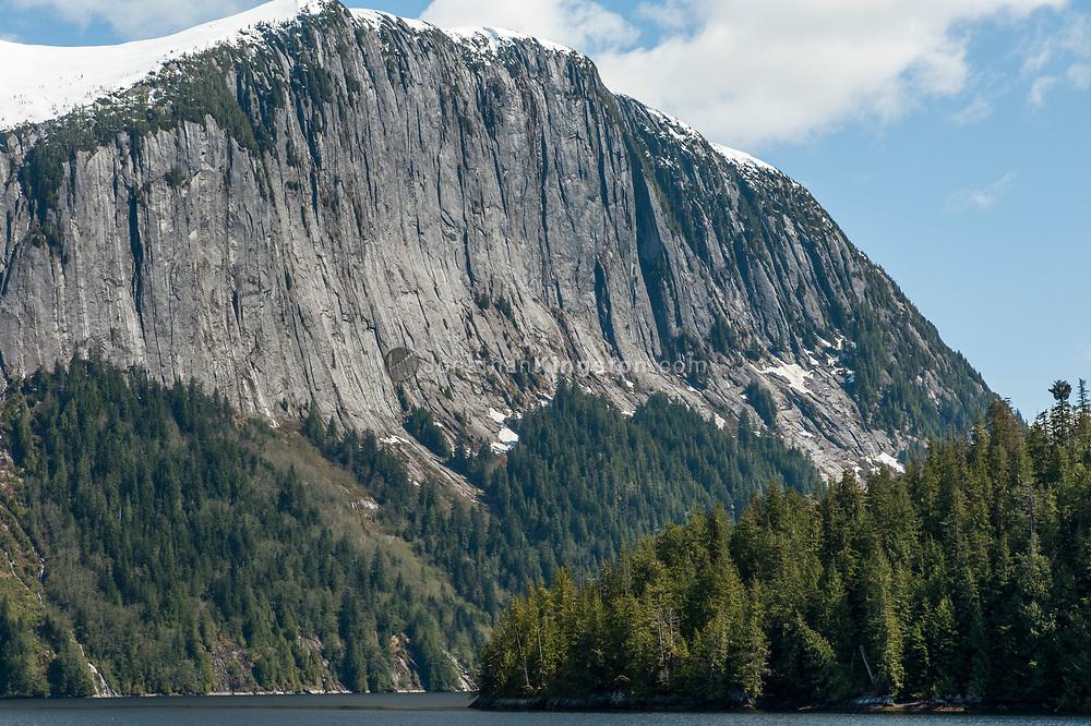 Massive cliffs, Rudeyard Bay, Misty Fjords National Monument, Alaska.