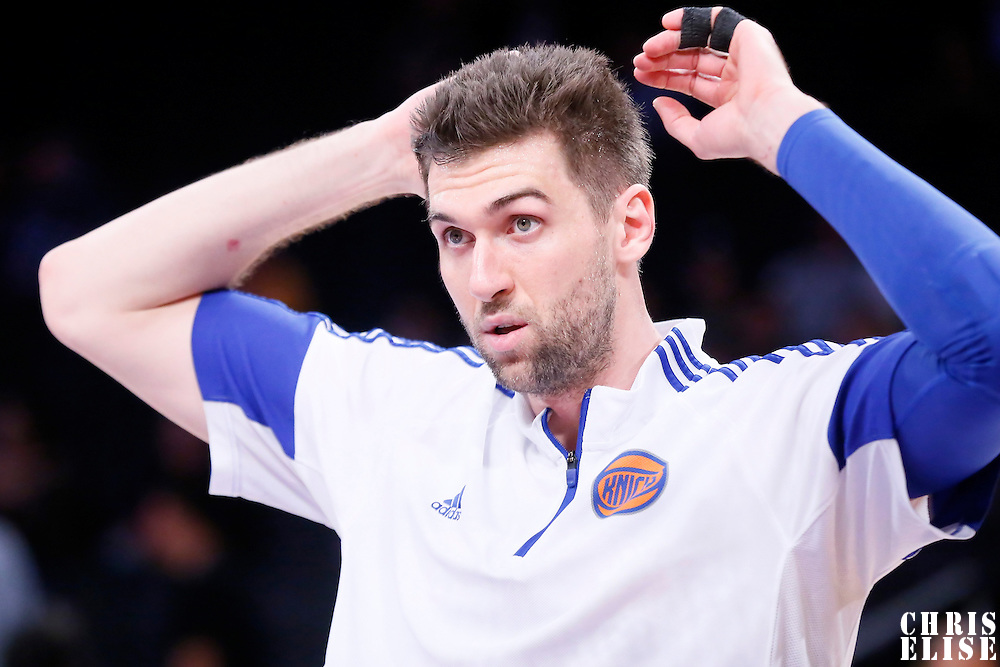 12 March 2015: New York Knicks center Andrea Bargnani (77) warms up prior to the New York Knicks 101-94 victory over the Los Angeles Lakers, at the Staples Center, Los Angeles, California, USA.