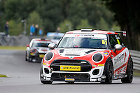 #61 James Turkington Mini F56 JCW during the MINI Challenge - JCW at Oulton Park, Little Budworth, Cheshire, United Kingdom. August 20 2016. World Copyright Peter Taylor/PSP.