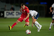 GOSFORD, AUSTRALIA - OCTOBER 02: Adelaide United midfielder Riley McGree (8) runs for the ball during the FFA Cup Semi-final football match between Central Coast Mariners and Adelaide United on October 02, 2019 at Central Coast Stadium in Gosford, Australia. (Photo by Speed Media/Icon Sportswire)