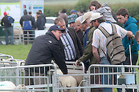 Teagas sheep expert David Webster (left) talking to farmers attending 'SHEEP2015', the major National Sheep Open Day hosted by Teagasc at Athenry on Saturday. Photo:- Andrew Downes / xposure.ie  No Fee. Issued on behalf of Teagas
