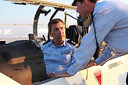 General Ido Nehoshtan Commander in Chief of the Israeli Air Force in a Flight Academy Beechcraft T-6A Texan II