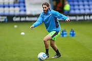 Forest Green Rovers Rob Sinclair(19) during the warm up during the Vanarama National League match between Macclesfield Town and Forest Green Rovers at Moss Rose, Macclesfield, United Kingdom on 12 November 2016. Photo by Shane Healey.
