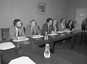 An Taoiseach Meets SDLP Delegation.  (N60)..1981..06.02.1981..02.06.1981..6th February 1981..At Government Buildings ,Leinster House Dublin, An Taoiseach, Mr Charles Haughey, met with a delegation from the SDLP. The delegation was led by Mr John Hume MEP..A view of the SDLP delegation at the meeting Leinster House,Dublin.