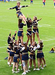 29.07.2010, Brita Arena, Wiesbaden, GER, Football EM 2010, Team Sweden vs Team Great Britain, im Bild Stunt der Cheerleader,  EXPA Pictures © 2010, PhotoCredit: EXPA/ T. Haumer / SPORTIDA PHOTO AGENCY