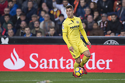 December 23, 2017 - Valencia, Spain - Daniel Raba during the match between Valencia CF against Villarreal CF , week 17 of  La Liga 2017/18 at Mestalla stadium, Valencia, SPAIN - 17th December of 2017. (Credit Image: © Jose Breton/NurPhoto via ZUMA Press)