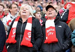 Bristol City fans inside the Wembley Stadium- Photo mandatory by-line: Alex James/JMP - Mobile: 07966 386802 - 22/03/2015 - SPORT - Football - London - Wembley Stadium - Bristol City v Walsall - Johnstone Paint Trophy Final