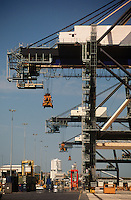 Cranes on container dock