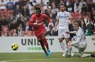 Sory Kaba (FC Midtjylland) under kampen i 3F Superligaen mellem FC København og FC Midtjylland den 22. september 2019 i Telia Parken (Foto: Claus Birch / Ritzau Scanpix).