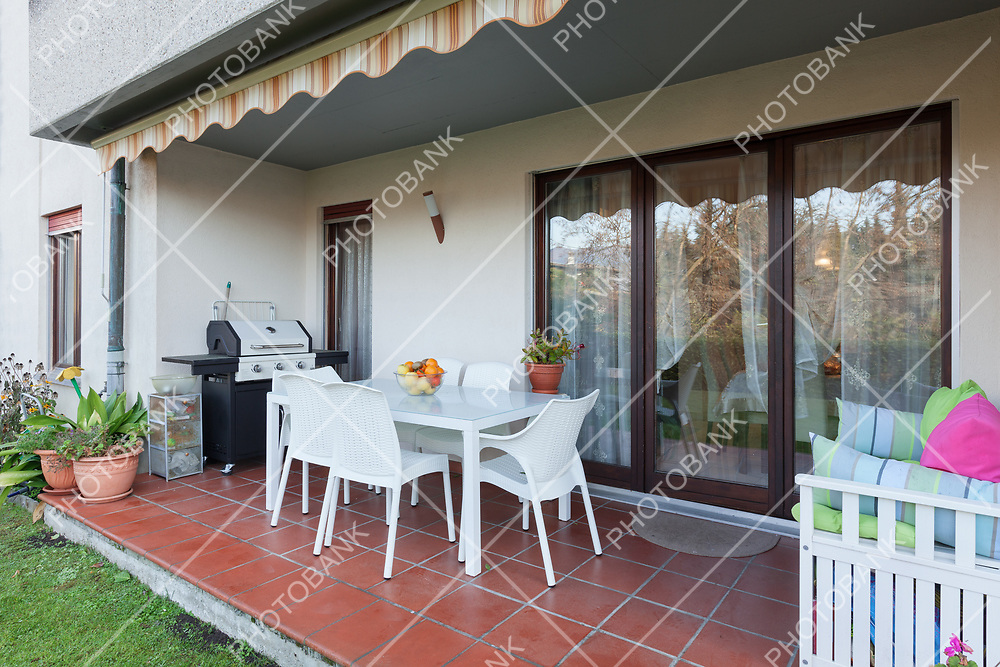 veranda of a house, external