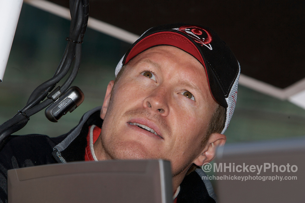 Target Ganassi Team driver Scott Dixon seen in the pits during practice for qualifications for the Indy 500.