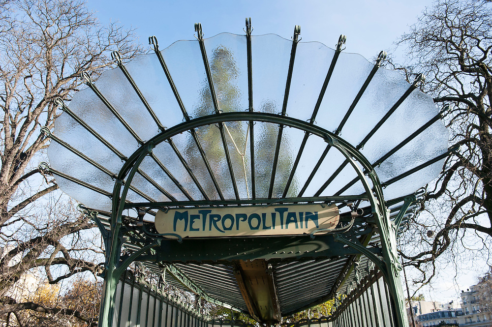 Entrance to the Paris Metro on the Avenue Foch. Paris Feature World War Two Magazine