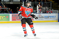 KELOWNA, CANADA, OCTOBER 26:  Mackenzie Johnston #22 of the Kelowna Rockets skates on the ice as the Prince George Cougars visit the Kelowna Rockets  on October 26, 2011 at Prospera Place in Kelowna, British Columbia, Canada (Photo by Marissa Baecker/Shoot the Breeze) *** Local Caption *** Mackenzie Johnston;