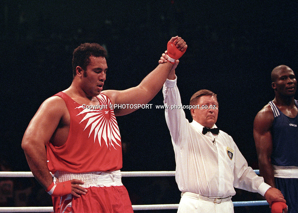 Paea Wolfgramm, Heavyweight Silver medalist for Tonga at the 1996 Olympic Games in Atlanta, USA. Photo: PHOTOSPORT<br />