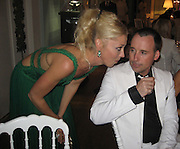 Tamara Beckwith & David Furnish.Grisogno Party.Hotel Du Cap - 2007 Cannes Film Festival .Cap D'Antibes, France .Tuesday, May 22, 2007.Photo By Celebrityvibe; .To license this image please call (212) 410 5354 ; or.Email: celebrityvibe@gmail.com ;