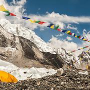 NEPAL, Everest Region, Everest Base Camp. May 12th, 2012. Everest Base Camp.