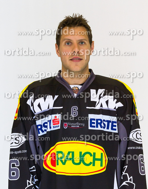29.08.2012, Messestadion, Dornbirn, AUT, EBEL, Spielerportraits, Dornbirner Eishockey Club, im Bild Jonathan D'Aversa, (Dornbirner Eishockey Club, #06)// during Dornbirner Eishockey Club Player Portrait Session at the Messestadion, Dornbirn, Austria on 2012/08/29, EXPA Pictures © 2012, PhotoCredit: EXPA/ Peter Rinderer