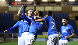 Ivan Toney of Peterborough United celebrates scoring the fourth goal against Southend United - Mandatory by-line: Joe Dent/JMP - 11/02/2020 - FOOTBALL - Weston Homes Stadium - Peterborough, England - Peterborough United v Southend United - Sky Bet League One