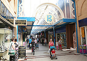 People and shops in the Britten Shopping Centre, Lowestoft, Suffolk, England
