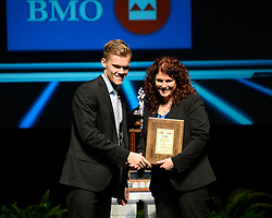 Nikolaj Ehlers of the Halifax Mooseheads was named the BMO Rookie of the Year at the 2013-14 Canadian Hockey League Awards Ceremony at the Grand Theatre in London, ON on Saturday May 24, 2014. Photo by Aaron Bell/CHL Images
