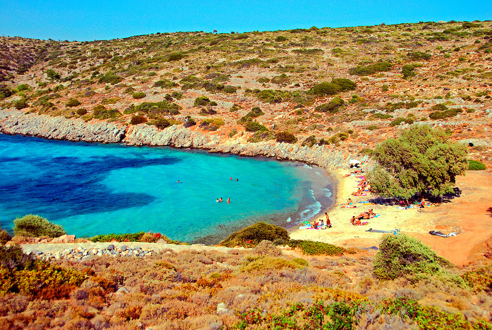 "The crystal clear and exotic beach of ""Agia Dynami"" (Greek for ""Holy Power"") 13 km from Pyrgi village at south Chios island, Greece."