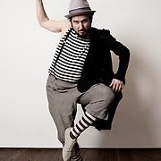 Milan, Italy, March, 2012. Vinicio Capossela, Italian songwriter. Images for the album 'Rebetiko Gymnastas'.