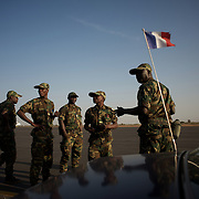 January 17, 2013 - Bamako, Mali: First group of forty five Togolese army men arrive at Bamako International Airport to take part in the international force deployed to Mali to defend the country against the islamists rebel groups advancing from the northern areas of the country.<br />