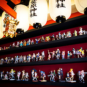 "TOKYO, JAPAN - JUNE 27 : Anime figures displayed at the entrance of Akihabara shrine in Akihabara, Tokyo, Japan on June 27, 2016.  A newly opened Akihabara Shrine offers a memorial services for ""deceased"" anime figures. Photo by Richard Atrero de Guzman"