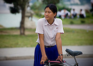 -Why don't women cycle in Pyonggyang?<br />
