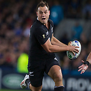 Israel Dagg, New Zealand,  in action during the New Zealand V France Final at the IRB Rugby World Cup tournament, Eden Park, Auckland, New Zealand. 23rd October 2011. Photo Tim Clayton...