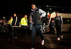Marcus Rashford of Manchester United arrives at Ashton Gate for the Carabao Cup Quarter Final tie with Bristol City - Mandatory by-line: Robbie Stephenson/JMP - 20/12/2017 - FOOTBALL - Ashton Gate Stadium - Bristol, England - Bristol City v Manchester United - Carabao Cup Quarter Final