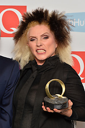 Debbie Harry with the award for Outstanding Contribution to Music at the Q Awards, at the Roundhouse in Camden, London. Picture date: Tuesday November 2, 2016. Photo credit should read: Matt Crossick/ EMPICS Entertainment.