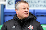 Sheffield United manager Chris Wilder before the EFL Sky Bet League 1 match between Peterborough United and Sheffield Utd at London Road, Peterborough, England on 11 February 2017. Photo by Nigel Cole.