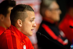 25.03.2016, Stadium Municipal, Wroclaw, POL, Pressekonferenz Fußballnationalmannschaft Polen, im Bild Piotr Zielinski // during a press conference of Polish national football team before tomorrow friendly match between Poland and Finland at the Stadium Municipal in Wroclaw, Poland on 2016/03/25. EXPA Pictures © 2016, PhotoCredit: EXPA/ Newspix/ Sebastian Borowski<br /> <br /> *****ATTENTION - for AUT, SLO, CRO, SRB, BIH, MAZ, TUR, SUI, SWE only*****