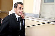 13.APRIL.2012. AJACCIO<br /> <br /> NICOLAS SARKOZY GIVES A SPEECH IN AJACCIO, FRANCE<br /> <br /> BYLINE: EDBIMAGEARCHIVE.COM<br /> <br /> *THIS IMAGE IS STRICTLY FOR UK NEWSPAPERS AND MAGAZINES ONLY*<br /> *FOR WORLD WIDE SALES AND WEB USE PLEASE CONTACT EDBIMAGEARCHIVE - 0208 954 5968*