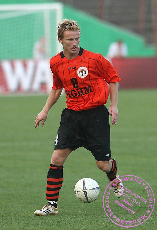 LUBIN 13/07/2006..PUCHAR UEFA..ZAGLEBIE LUBIN _ DYNAMO MINSK..NA ZDJ. MATEUSZ BARTCZAK  / ZAGLEBIE/ ..FOT. PIOTR HAWALEJ / WROFOTO