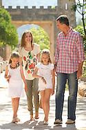 King Felipe VI of Spain, Queen Letizia of Spain, Crown Princess Leonor and Princess Sofia visit Sierra de Tramuntana, Finca Raixa, on August 11, 2014 in Palma de Mallorca, Spain