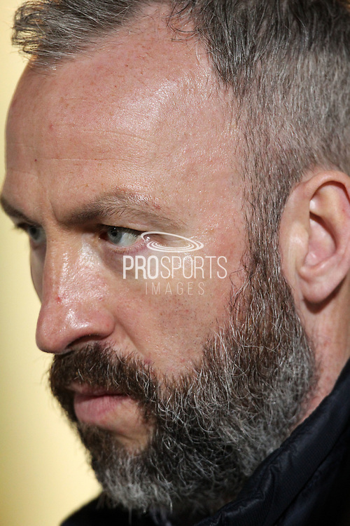 Shaun Derry, Cambridge United Manager looks on before the EFL Sky Bet League 2 match between Cambridge United and Hartlepool United at the Cambs Glass Stadium, Cambridge, England on 14 March 2017. Photo by Harry Hubbard.