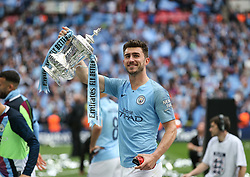 Aymeric Laporte of Manchester City with the trophy - Mandatory by-line: Arron Gent/JMP - 18/05/2019 - FOOTBALL - Wembley Stadium - London, England - Manchester City v Watford - Emirates FA Cup Final