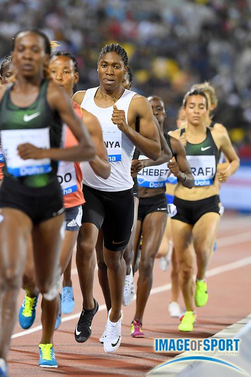 Caster Semenya (RSA) wins the women's 1,500m in 3:59.92 in the 2018 IAAF Doha Diamond League meeting at Suhaim Bin Hamad Stadium in Doha, Qatar, Friday, May 4, 2018. (Jiro Mochizuki/Image of Sport)
