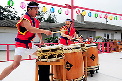 A performance from San Jose Taiko enlivened the 2012 Obon Festival at the Buddhist Temple of Salinas.